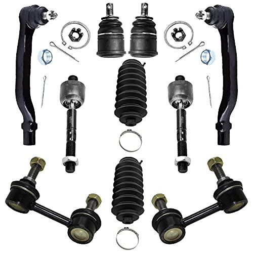 Detroit Axle - Complete 10Piece Front Suspension Kit for Honda Accord 2.3L Both (2) Lower Ball Joints, Both (2) Sway Bar Links, All (4) Inner & Outer Tie Rods, 2 Tie Rod Boots