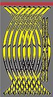 WhaleZモーターサイクルリム反射リムステッカー装飾インナーリムデカール12ストライプ For HONDA CBR500RR cbr 500rr CBR 500RR 用