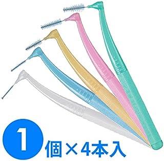 【1個】ガム?プロズ 歯間ブラシL字型 4本入り (M(4)ピンク)