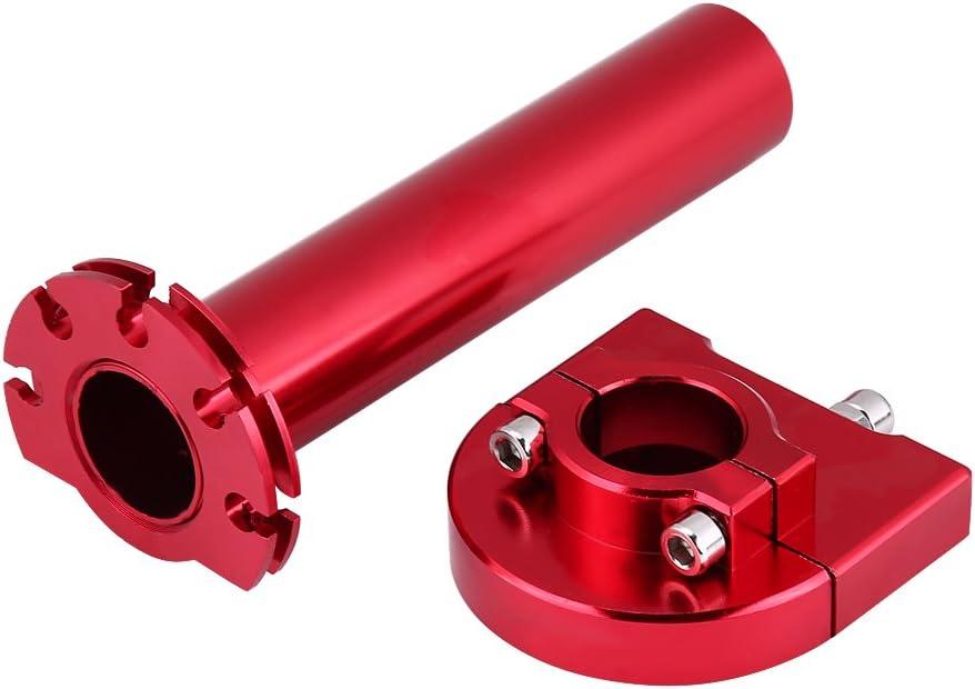 KIMISS Mango de gas universal Mango de gas, 7/8 Manijas de 22 mm Mango de gas Acelerador para Moto Scooter Dirt Bike (Rojo)