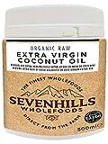 Sevenhills Wholefoods Huile Extra Vierge De Noix De Coco Bio 500ml, Pressée à Froid, Pour Cuisine, Peau et Cheveux