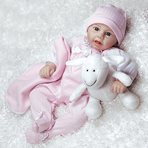 Paradise Galleries Reborn Baby Doll Rachael & Ramsey Newborn, 19 inch 8-Piece Ensemble, with a Baby Carrier/Bassinet