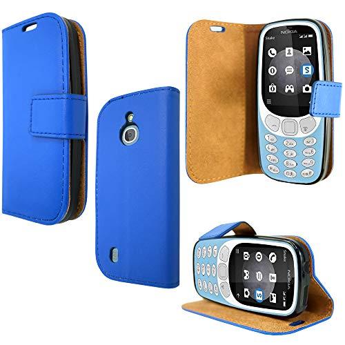 PIXFAB - Funda tipo libro para Nokia 3310 3G y 4G, color azul
