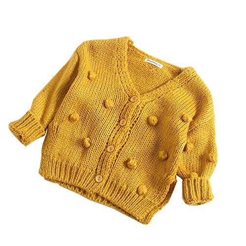 Asudaro Chaqueta de Punto para bebé, para otoño, Invierno, Sudadera, Abrigo de Lana, para niños y niñas
