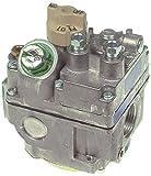 Falcon 7000BGOR - Válvula de gas para freidora G1860, G1860-CE, entrada de gas 3/4', salida de gas 3/4', conexión termoelemento ASA 11/32'