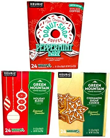 Green Mountain K Cups and The Original Donut Shop Seasonal Coffee Variety Pack Peppermint Bark product image