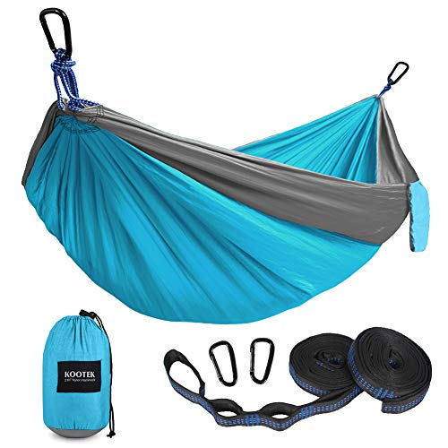 Kootek Camping Hammock Double & Single Portable Hammocks with 2 Tree Straps, Lightweight Nylon...