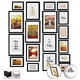 bomoe 18er Set Bilderrahmen Passion Bilder-Collagen Fotorahmen aus Holz