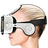 Procus PRO (White) Virtual Reality Headset - 100-120 Degree FOV with Highest Immersive Experience - Inbuilt Headphones