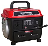 PowerSmart PS50 1000W 2 Stroke Manual Start Portable Generator, Red/Black