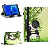 NAUC Tablet Tasche kompatibel für Alcatel 1T 10 Schutzhülle hochwertiges Kunstleder Hülle Standfunktion 360° Drehbar Schutz Cover Universal Hülle, Farben:Motiv 13