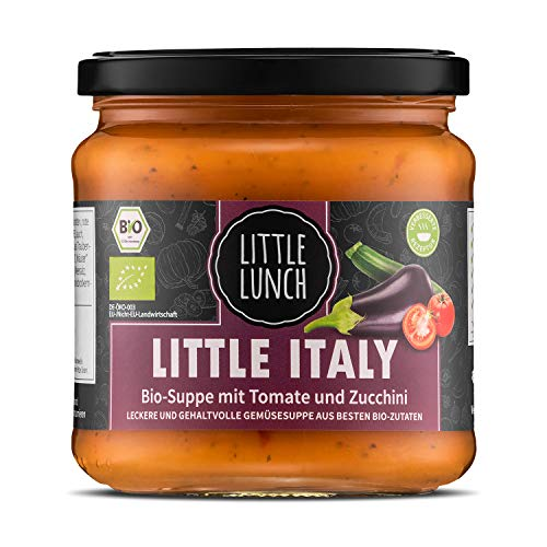 Little Lunch Bio Suppe Little Italy | 350ml | 100{6812d2f11451996df60b8cd0987c067eae03122aca4f58ae2b078b172e2665f8} Bio-Qualität | Vegan | Ohne zugesetzten Zucker | Glutenfrei | Laktosefrei | Keine künstlichen Zusätze | Ohne Geschmacksverstärker