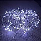 Cadena de luz LED alambre de cobre con pilas decoración del banquete de boda de Navidad cadena de luz LED luces de hadas A2 3m30 leds usb