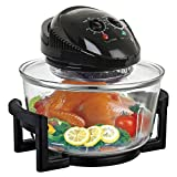 AllRight 12L Portable Air Fryer Halogen Convection Oven Induction Cooker 1400W Multifunctional Oven Advanced Convection Fryer,Black