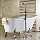 GOWE sólido latón baño grifo mezclador de ducha bañera boquilla Clawfoot sola manija caliente y fría mezclador grifo