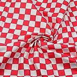Quadrat Rot Weiß 100% Baumwolle Baumwollstoff Dreiecke