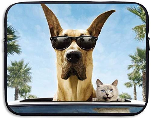 Perro Gato Gafas de Sol Funda para Tableta Funda para portátil Funda de Viaje Funda para Ordenador portátil de 15 ″ Maletín de Negocios para Ordenador portátil Messenger Work