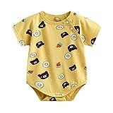 GYDD Baby Onesies Body Algodón Suave Infantil Camiseta Linda Chaleco Niños Y Niñas, 0-24 Meses bear-73