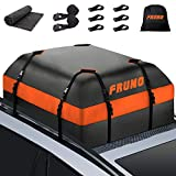 FRUNO 2021 Upgraded Waterproof Heavy Duty Soft-Shell Vehicle Rooftop Cargo Carrier Bag for Car with/Without Roof Top Rack (15 Cubic Feet)