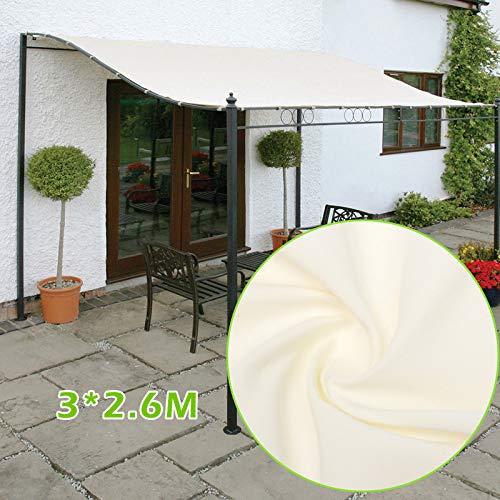 Abboard Tente En Toile Imperméable 300d Gazebos Abri Solaire Extérieur à Toit Auvent De Terrasse Mobilier De Jardin 3mx2 6m