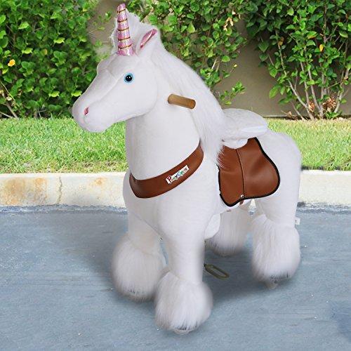 PonyCycle®Shop ORIGINAL Sienta Montar un Caballo Pony Real en el Increíble Unicornio Pequeño
