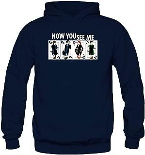 Tommery Women's Now You See Me Long Sleeve Sweatshirts Hoodie Xxl