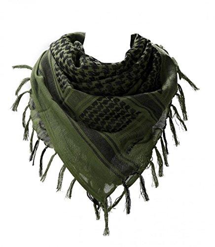 WODISON Halstuch Schlauch Armee Militär Kopftuch Shemagh arabische Wüste Keffiyeh Pali-Tuch Schal wickeln taktischen Stil