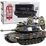 DBXMFZW Tanque de control remoto grande de 1/18, tanques RC que pueden disparar balas, vehículo de...