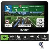 Mappy Ulti S549 GPS Auto avec Carte à Vie Europe de l'Ouest Ecran 5' (12,7 cm) USB/Bluetooth/TMC Noir
