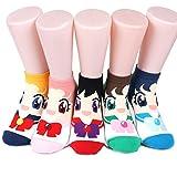 Aries Sailor Moon Women's Socks 6pairs(6color)=1pack Made in Korea