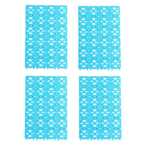 DEDC - Set di 4 tappetini antiscivolo in plastica per conigli, criceti, ratti e cincillà, porcellini d'India