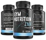 ZMA Hochdosiert - Zink + Magnesium + Vitamin B6 - Hochwertiger Komplex im Premium Qualität - Vegan - Made in Germany - Besonders für Sportler geeignet - 120 vegane Kapseln