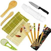 KLOLKUTTA 15-Piece Sushi Roller Kit for Beginners Bazooka Maker