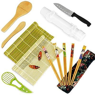 Sushi Making Kit, 15 pieces Sushi Roller Kit fo...