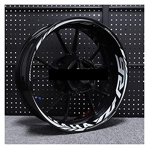 Decal de rayas de llanta de rueda Pegatina de bicicleta de motor Calcomanías reflectantes para Ya-ma-ha YZF R6 Pegatinas de la rueda de la rueda de la rueda de la moto Revestir impermeable para la rue