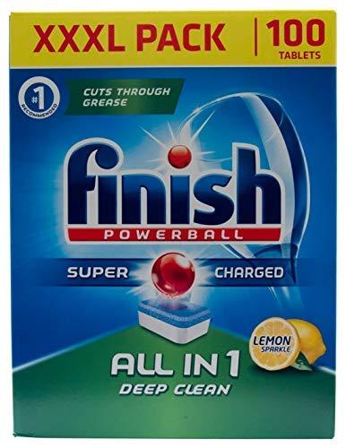 Finish Dishwasher Tablets All In 1 Powerball XXXL Lemon