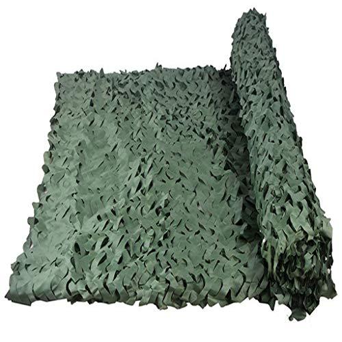 Tentzeil puur groen camouflage net jungle camouflage dubbele laag 250D polyester camouflage bloem gesneden zonwering voor militaire sport deken kinderen slaapkamer decoratie buiten fotograaf 4x5m