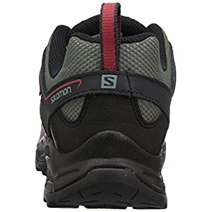Salomon Women's Pathfinder ClimaSheild Waterproof Hiking Shoes, Castor Gray/Phantom/Mineral Red, 7.5 M US