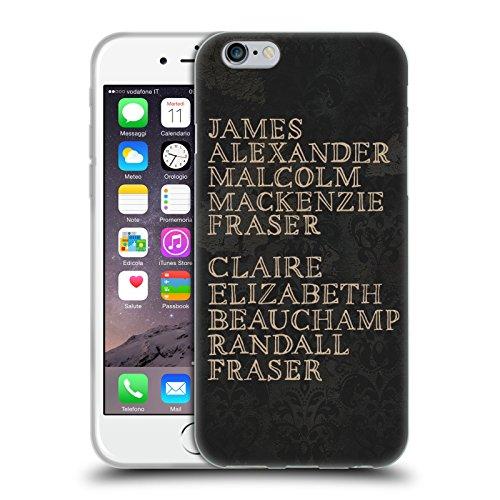 Head Case Designs Licenza Ufficiale Outlander Nomi Grafiche Cover in Morbido Gel Compatibile con Apple iPhone 6 / iPhone 6s