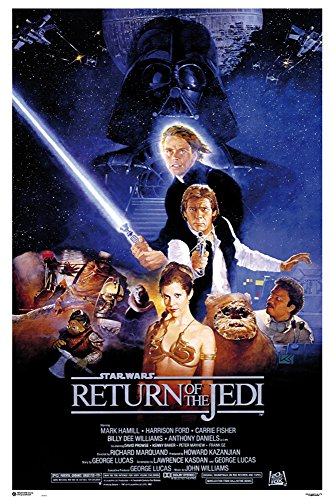 Star Wars - Return of The Jedi Prince - Filmposter Kino Movie Science Fiction Sci Fi - Grösse 61x91,5 cm + 1 Ü-Poster der Grösse 61x91,5cm