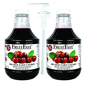Red Tart Cherry Juice Concentrate by FruitFast | 64 Day Supply Non GMO Gluten Free 100% Cherry Juice Concentrate, 2-Pack… |