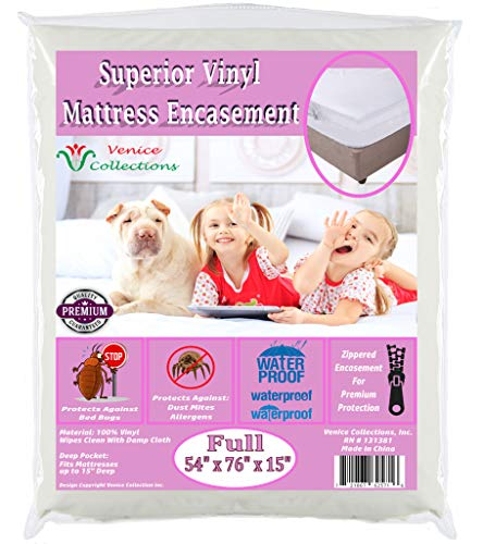 v Superior Extra Heavy 8 Gauge Vinyl Mattress Protector...