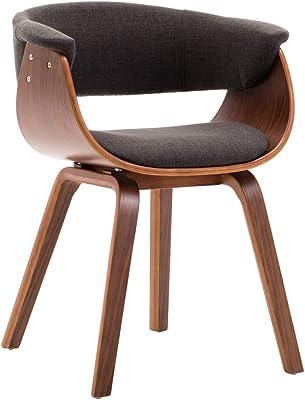 vidaXL Dining Chairs 6 pcs Grey Bent Wood and Fabric