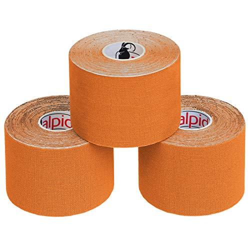 ALPIDEX Cinta Kinesiología Tape 5 m x 5 cm Cinta Muscular E Book Ejemplos Aplicación Colorcolores surtido Cantidad3 rollos