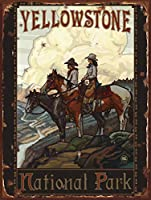 なまけ者雑貨屋 Yellowstone Two Riders ブリキ 看板 レトロ アメリカン 雑貨 ヴィンテージ風