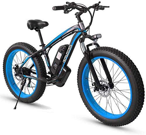 RDJM Bciclette Elettriche 26inch Fat Tire E-Bici elettrica biciclette for adulti, 500W in lega di alluminio All Terrain E-Bike removibile 48V / 15Ah agli ioni di litio Mountain Bike for Commute di cor