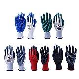 Kungfu Mall 6 pares de guantes de trabajo para mujeres y