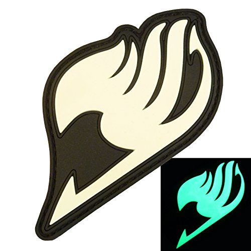 2AFTER1 Glow Dark GITD Fairy Tail Japanese Manga Anime PVC Rubber 3D Touch Fastener Patch
