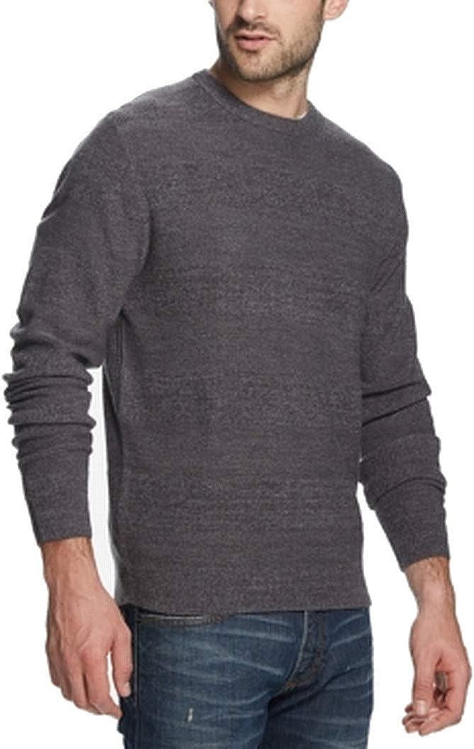 Weatherproof Mens Sweater Crewneck Pullover Textured Knit Gray 3XL