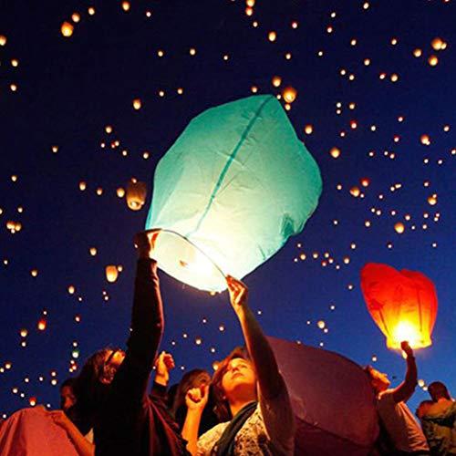 Stecto 1 lot de lanternes chinoises, respectueuses de l'environnement, biodégradables, lanternes à souhait, lanternes en papier ignifuge, lanternes pour Noël, Nouvel An, mariages, fêtes